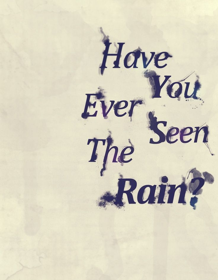 Creedence Clearwater Revival -Have You Ever Seen The Rain?