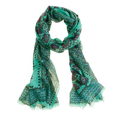 J. Crew vibrant paisley scarf - awesome color