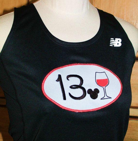 Disney Wine and Dine New Balance racerback tech tank top OR short sleeve wicking women men running runners singlet  Disney Half marathon