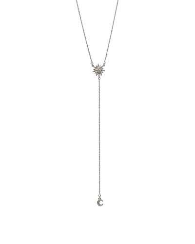 Beautiful Silver Altair Necklace #starburst #moon