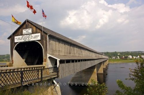 The longest covered bridge in the world in Hartland, New Brunswick, Canada.