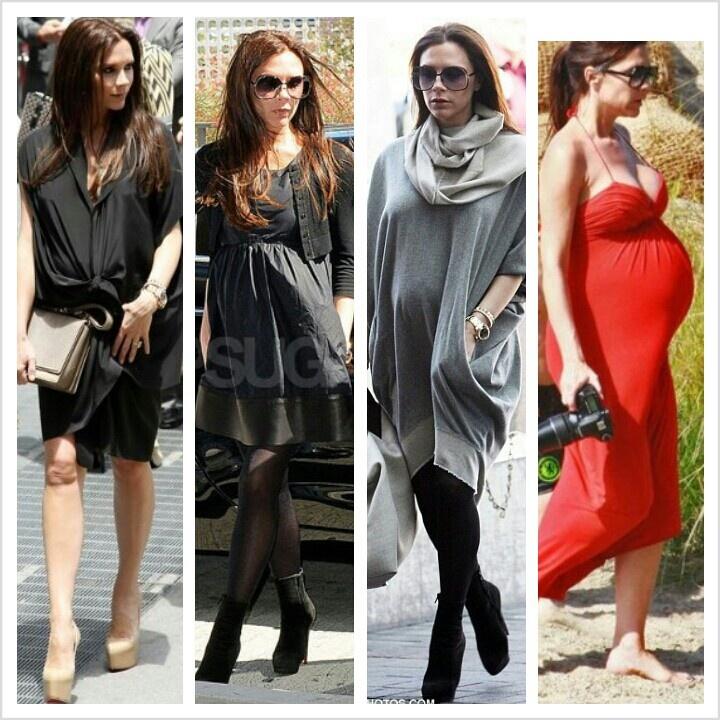 Victoria Beckham maternity style
