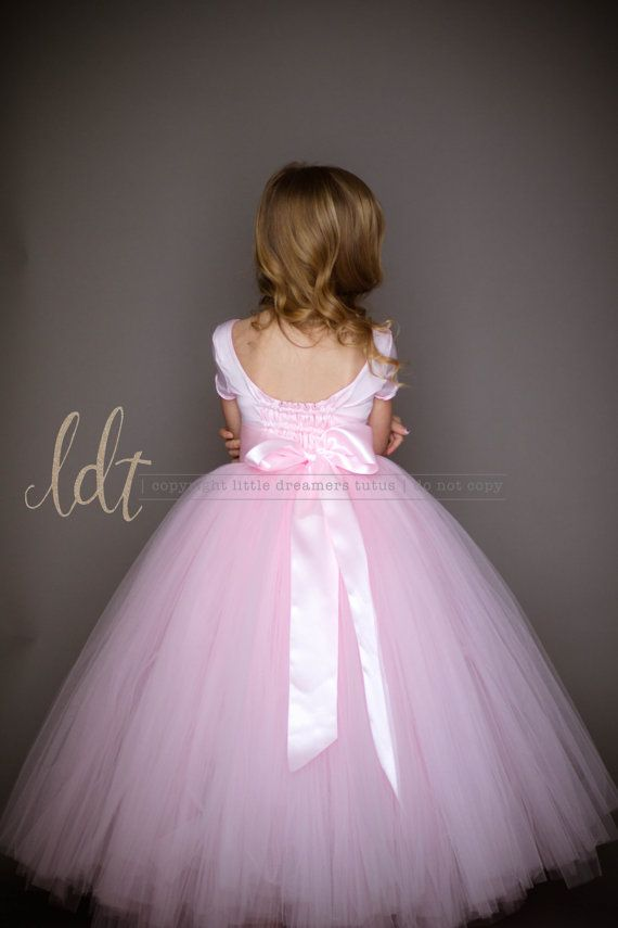 NEW! The Sophia Dress with Short Sleeves in Light Pink - Flower Girl Tutu Dress