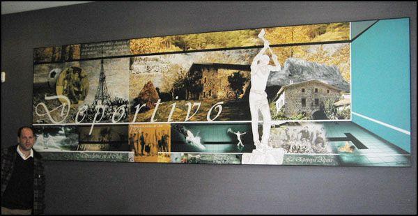Murales collage fotográfico para el Club Deportivo en Bilbao por Donibane