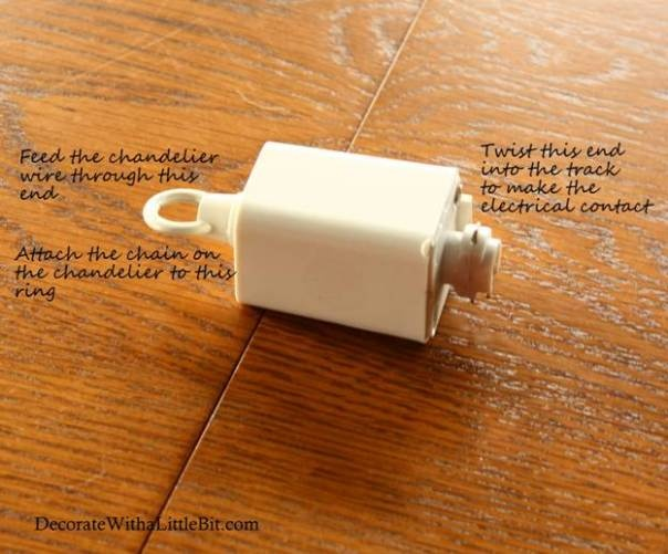 Chandelier Adapter For Track Lighting Fixture From Menards Via Decorate With A Little Bit