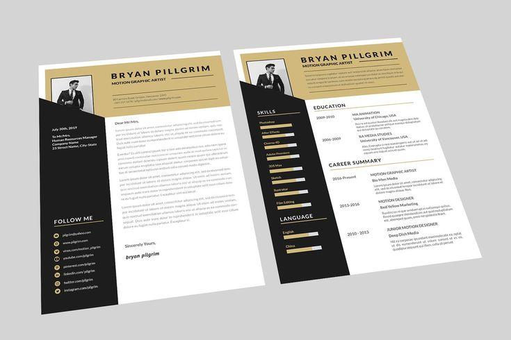 Motion graphic resume designer graphic resume resume
