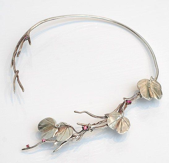 "Necklace | Kim Nikolaev. ""Twig series"" || http://www.nikolaevdesigns.com/"