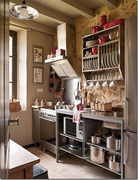 lovely dotted red kitchenware