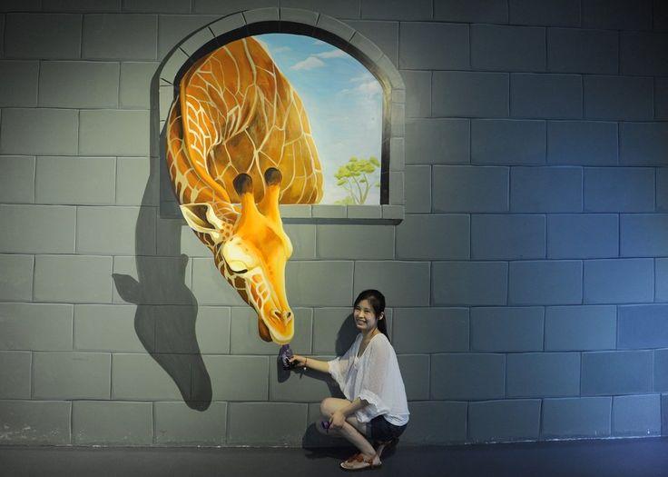 giraffe and the beauty???