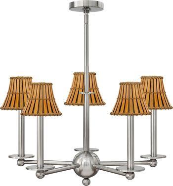 Best 25 chandelier shades ideas on pinterest clear glass hinkley lighting 3745 piedmont 5 light brushed nickel chandelier gets a whole new oriental look aloadofball Gallery