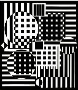Pleionne F - (Victor Vasarely)