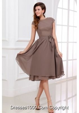 Discount Simple Scoop Neck Knee-length A-line Prom Dress