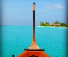 Boat in some tropical place