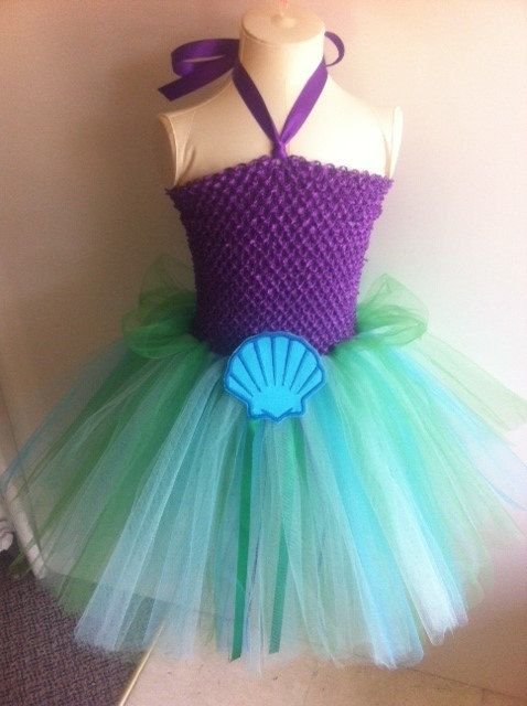 Mermaid inspired by Ariel tutu dress, costume, birthday party dress, for playing dress up.