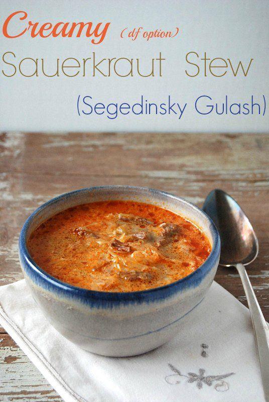 Creamy Sauerkraut Stew (Slovak Segedinsky Gulash) (df option)