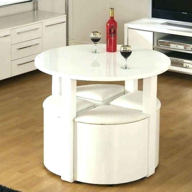 Table With Hidden Chairs Icytiny Co Small Dining Room Table