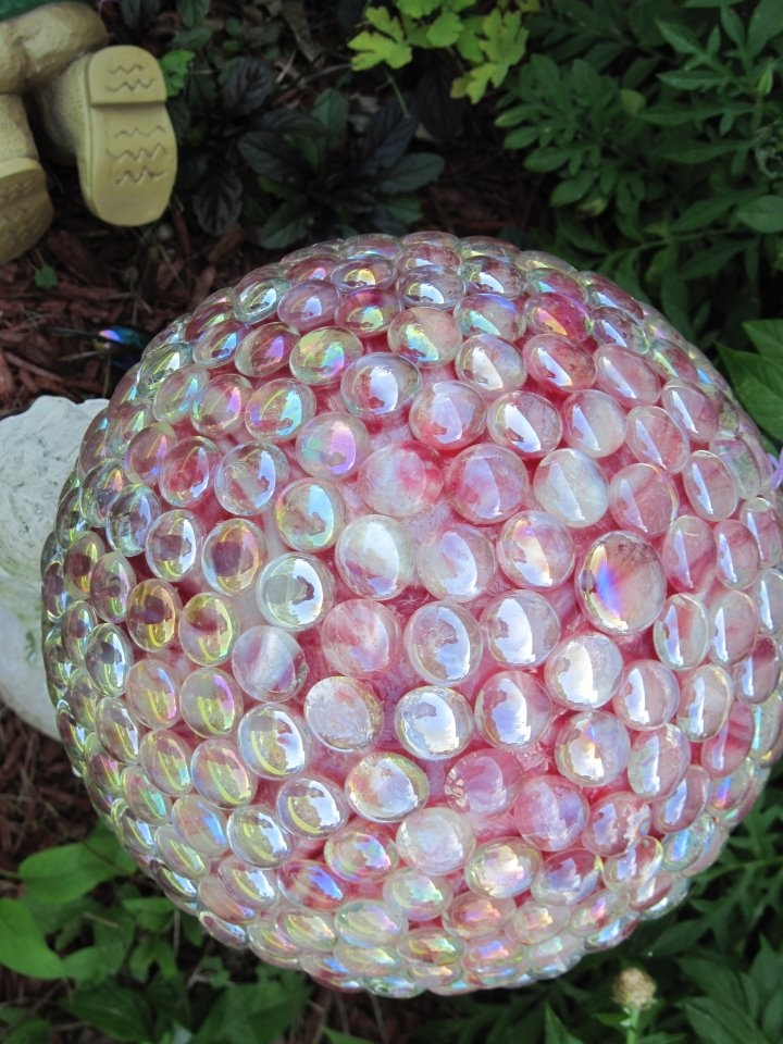 Garden Ball From Old Bowling Ball 2