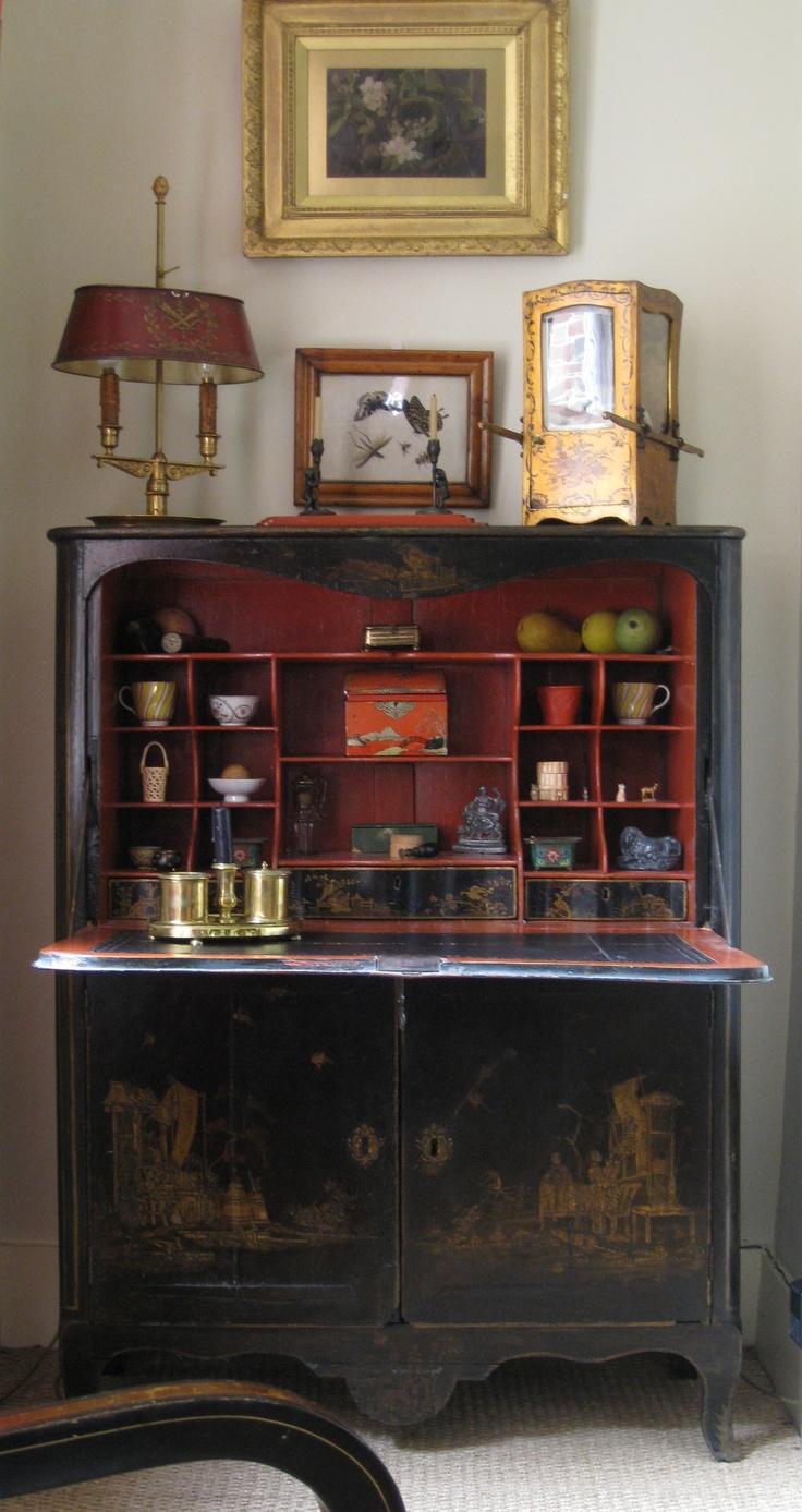 antique chinoiserie bureau
