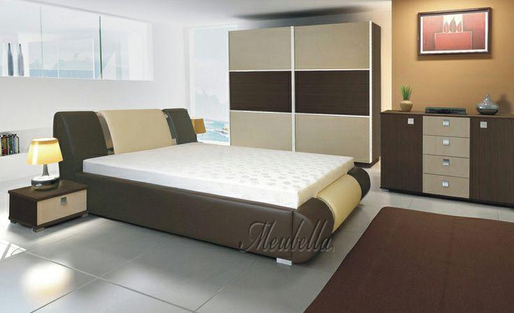 Slaapkamer Ideeen Bruin Bed : ... www.meubella.nl/slaapkamer/bedden ...