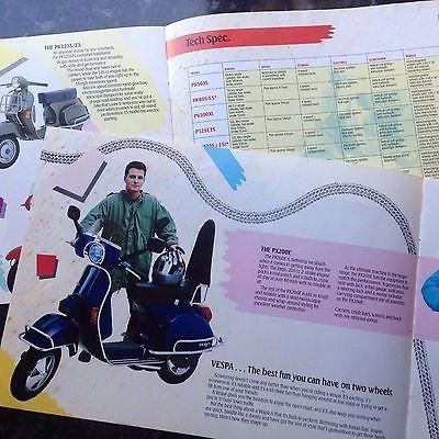 VESPA,  Scooters. 1986 Models Dealers Showroom Brochure.