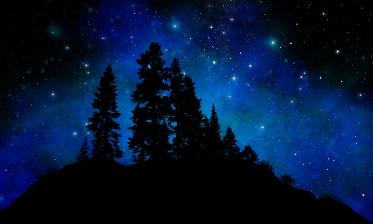 Sierra Foothills Glow In The Dark Canvas Wall Mural