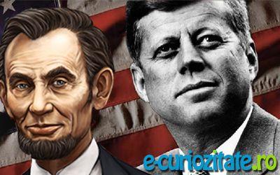 citeste mai multe pe: http://e-curiozitate.ro/coincidente-bizare-dintre-abraham-lincoln-si-kennedy/    Evenimente stranii, conicidente bizare sau hazard al destinului? Un lung sir de asemanari leaga evolutia si moartea celor doi: Abraham Lincoln, JF Kennedy.