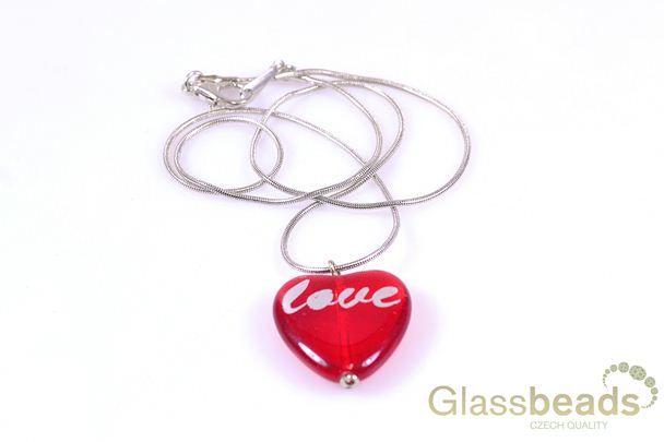 Valentýnský řetízek se srdíčkem LOVE
