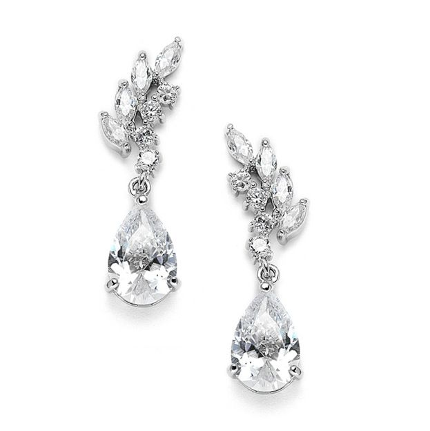 'Annabelle' Cubic Zirconia Event Earrings - Item No: FGE119