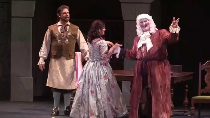 The Barber of Seville (Rossini). Set in Spain. Opera Buffa. Comedy. Main Characters are Figaro (Barber) & Rosina.