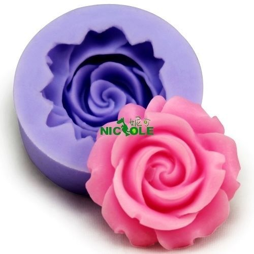 Floral Cake Decoration Polymer Clay Fondant Mold Flexible Silicone F0130
