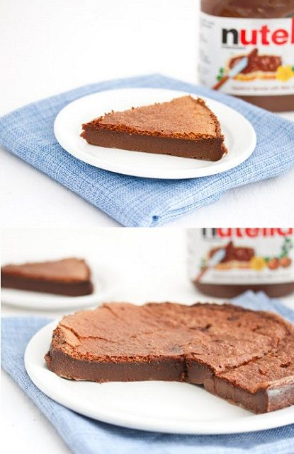 2 Ingredients + 30 mins = Nutella cake (LOVE)