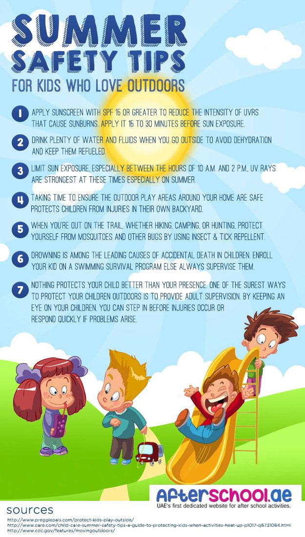 Here is our summer safety tips for kids and parents who plan to go outdoor. Following these simple tips will allow you to enjoy more of your time and have a happy summer vacation.