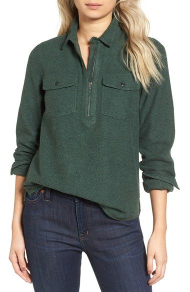 Madewell Zip Front Popover available at #Nordstrom