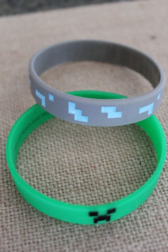 Minecraft Creeper Silicone Wristbands by BoutiqueSuppliesUSA, $2.75