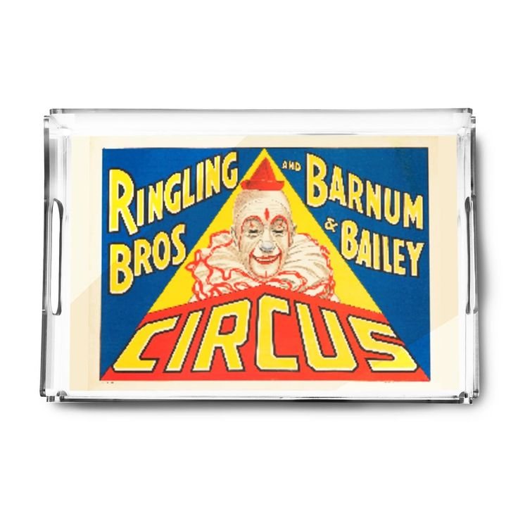 Ringling Bros Barnum Bailey Circus - Vintage Ad (Acrylic Serving Tray)
