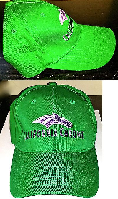 Horse Racing 429: New California Chrome Rare Giveaway Green Santa Anita Derby And Kentucky Derby Hat -> BUY IT NOW ONLY: $49.95 on eBay!