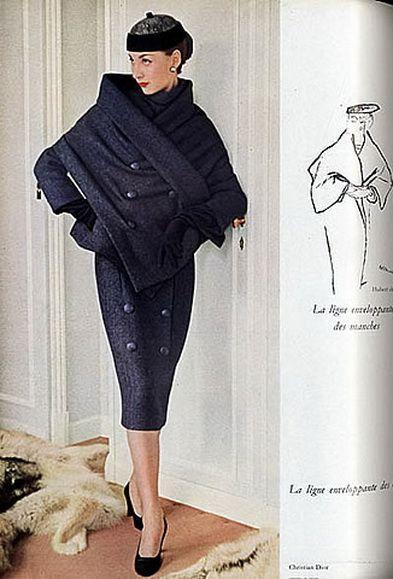 1955 - The Christian Dior 'Oblique' Line in Vogue