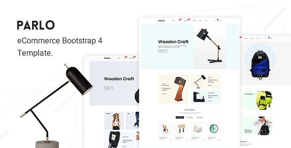 Parlo Ecommerce Bootstrap 4 Template Nulled Free Download Templates Ecommerce Themeforest