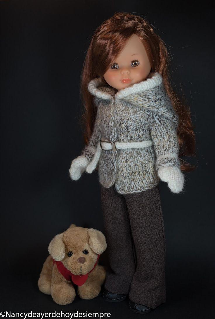 Ya hice el año pasado el modelo lana para mi Nancy Coleccion, pero ha querido prestárselo a Nancy novia para ver como lo quedaba... Tambien ...