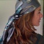 sjaal als hoofdband/haarband