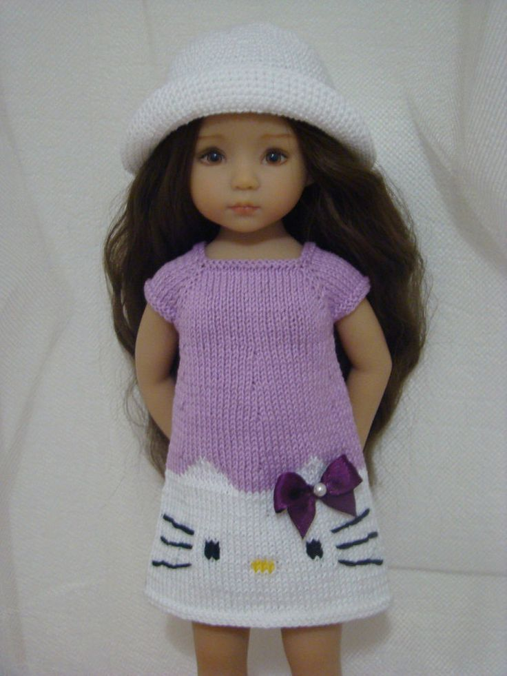 """Violet HELLO KITTY SUMMER outfit for Dianna Effner Little Darling 13"""""""
