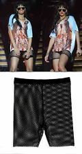 *BRAND NEW* WOMENS FASHION RIHANNA FISHNET SHORTS BLACK LACE CYCLING SHORTS