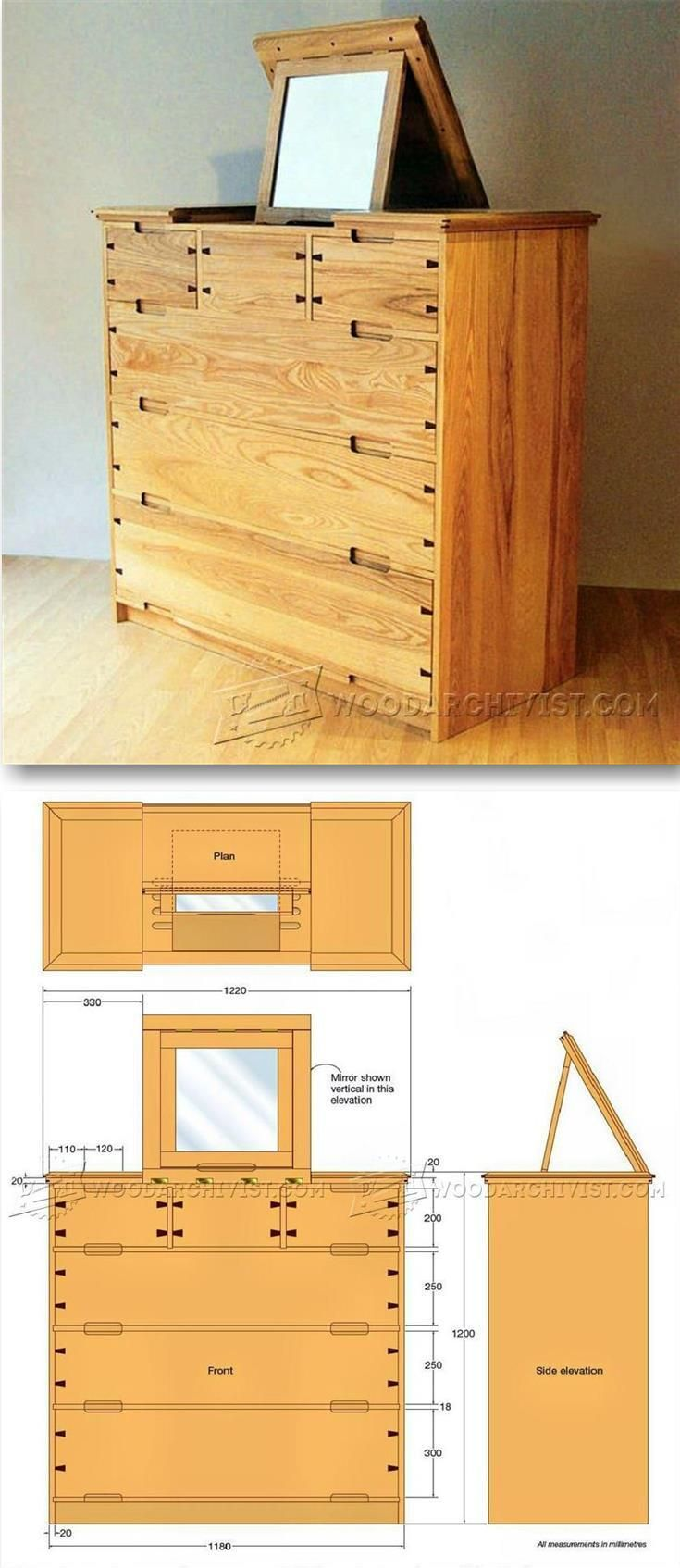 Bat house plans woodwork city free woodworking plans - Dressing Chest Plans Furniture Plans And Projects Woodarchivist Com