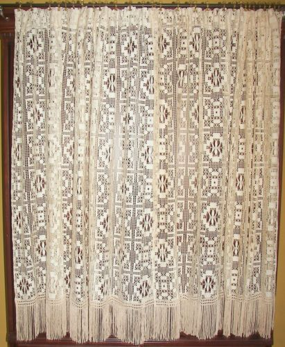 etsy antique net curtain curtains vintage best panels uk gopelling lace