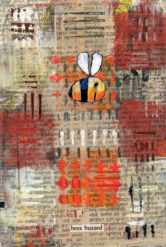 A Simon Kirk original entitled 'Bees Buzzed'. by SimonKirkFineArt, £25.00