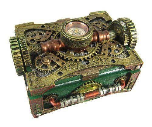 Steampunk Schmuckkästchen/Schmuckschatulle mit Kompass, Steampunk