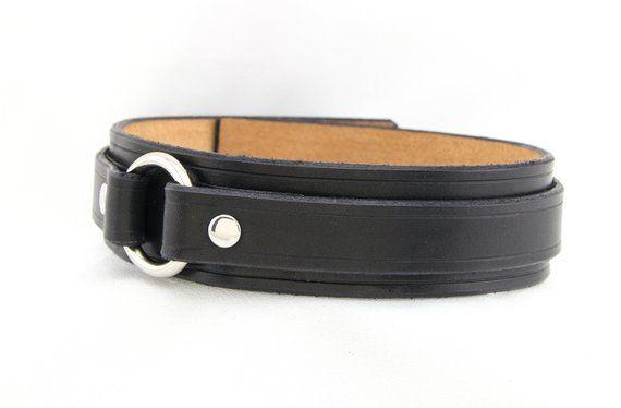 Leather Bondage Collarsubmissive Collarslave Collarbdsm Collarfetish Collareroticclassic O Ring Collarhandmade Black Leathernickel