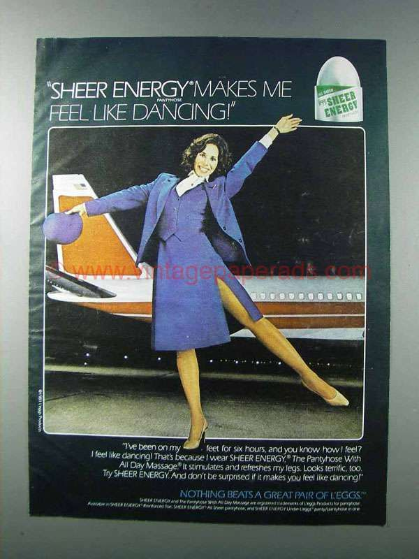 Remarkable, sheer energy pantyhose ads