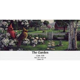 Needlepoint Cross Stitch Kit - The Garden