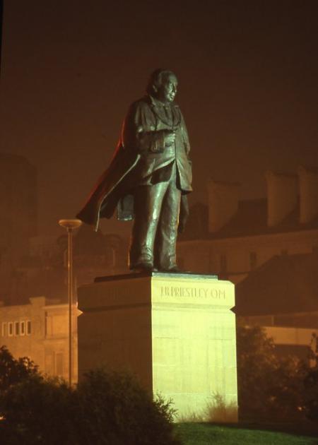 J B Priestley statue, Bradford,